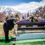 boyfriend kissing casket Wasatch lawn salt lake city cemetery photography for funerals Ryan hender films